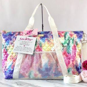 Betsey Johnson Tie Dye Overnighter Duffle Bag